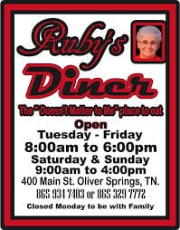 Ruby's Diner in Oliver Springs to offer free Thanksgiving meal